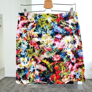 Chelsea & Theodore colorful printed skirt